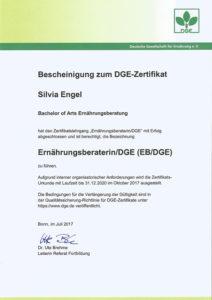 Silvia Engel DGE-Zertifikat